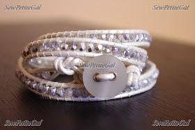 SewPetiteGal: Leather Wrap Bracelet Video Tutorial