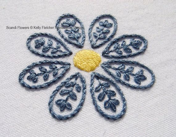 Scandi Flowers Scandinavian hand embroidery by KFNeedleworkDesign                                                                                                                                                                                 More                                                                                                                                                                                 More