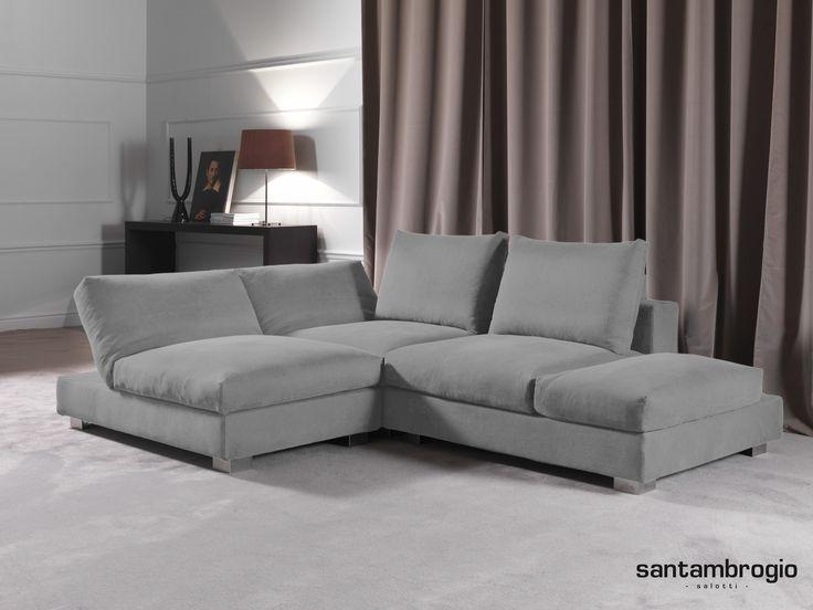 #Divano angolare Lugano - Colore grigio - Produzione Santambrogio Salotti - #Milano