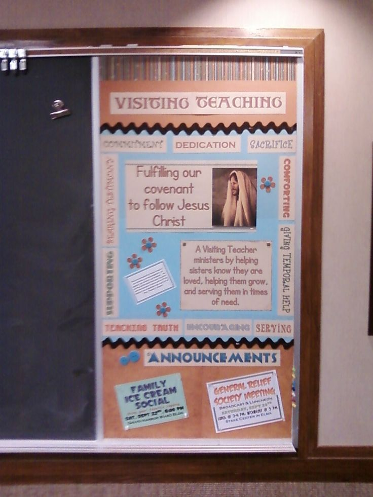 14 best lds bulletin board images on pinterest lds for Idea door relief society
