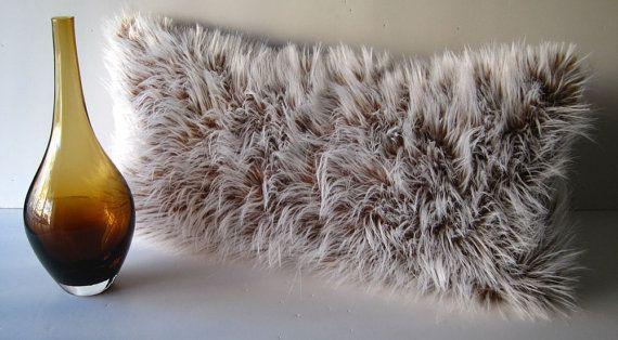 Tibetan Lamb Caramel Faux Fur Decorative by WilhelminaJacobsLA, $69.99