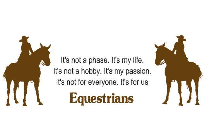 Horse decal-Horse sticker-Quote decal-Quote sticker-Horse and rider decal-48 X 17 inches
