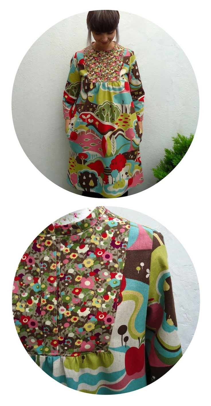 Wiksten Tova dress in MoMo Avant Garden Fantasia fabric made by Ivy Arch