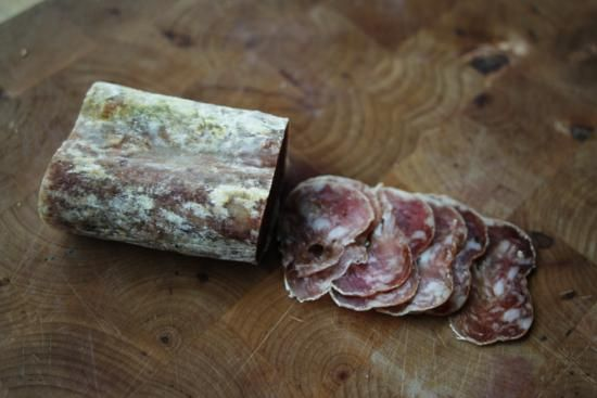Dry-cured salami from Macelleria Atlas on St. Clair West.