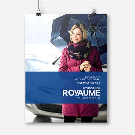 Hyundai du Royaume / Affiche publicitaire / Beez Créativité Média