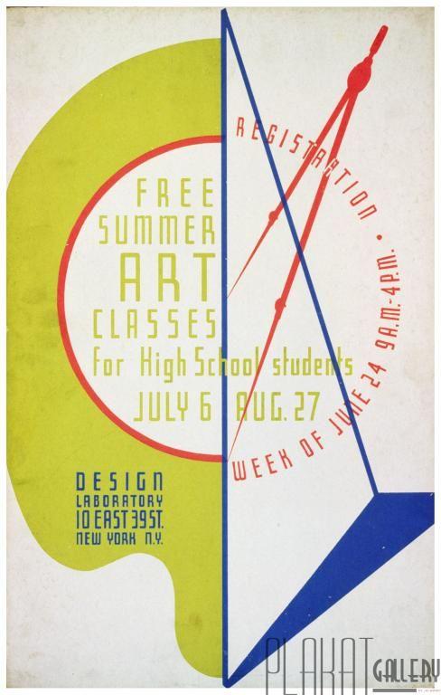 PLAKAT społeczny Letnie lekcje Sztuki USA 1940 r. (6000750676) - Allegro.pl - Więcej niż aukcje.