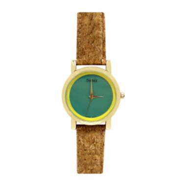 Decree® Womens Cork Band Colored Dial Watch  found at @JCPenney