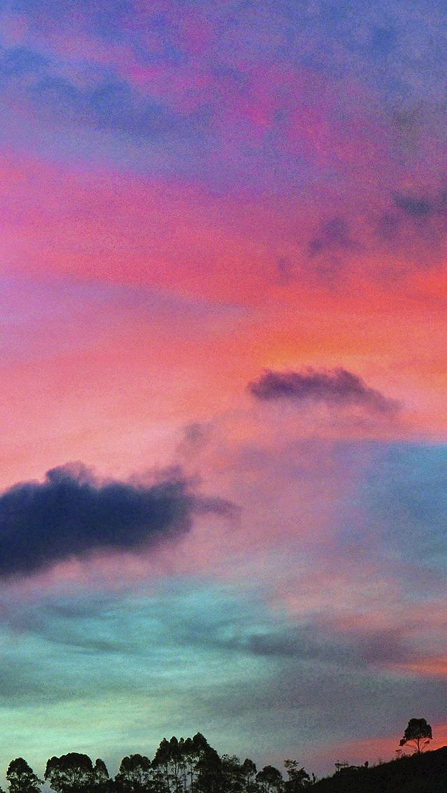 Sky Rainbow Cloud Sunset Nature Iphone Wallpapers With Images
