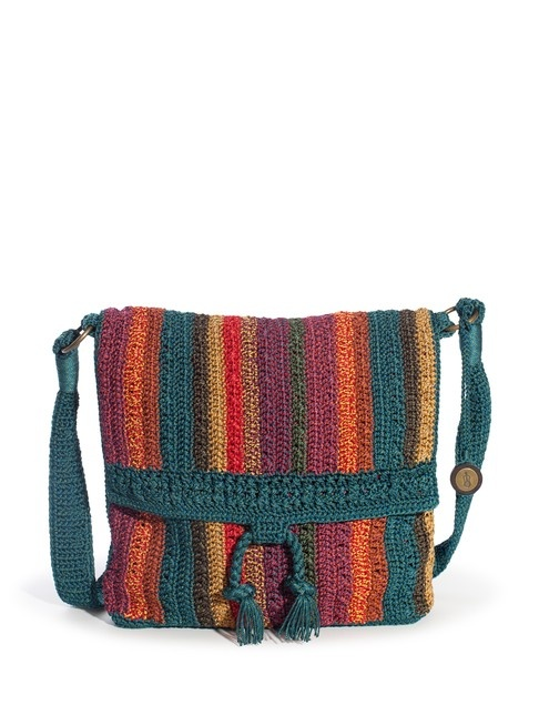 Wear it as a messenger bag or a shoulder bag, the Sonora flap features our signature soft crochet in fun bright colors and stripes.