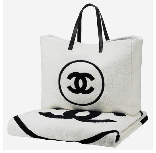 Chanel towel & beach bag