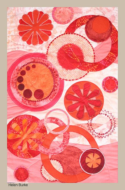Monochromatic quilt challenge: Helen Burke, 2011, photo by Sandra Torguson