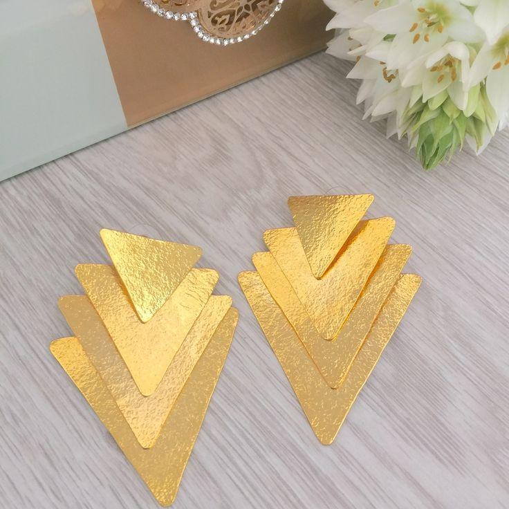 Triangles Earrings - Buy in treasure jewels