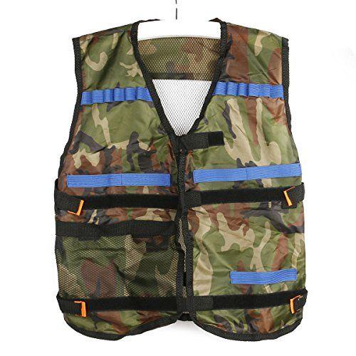 Pixnor Veste tactique de Camouflage de Nerf N-Strike Elite Series: Couleur: Camouflage., dimensions: 54 * 47cm / 21,3 * 18,5 pouces Veste…