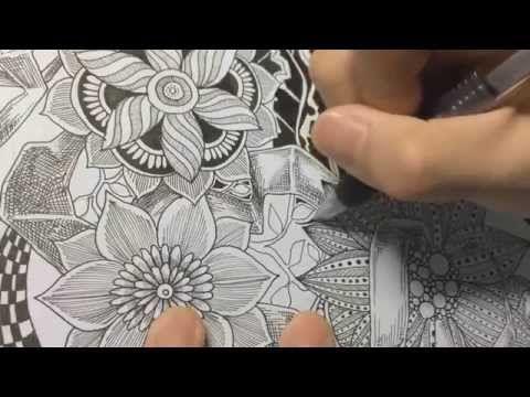 How to draw botanical doodle / zentangle #9 - YouTube