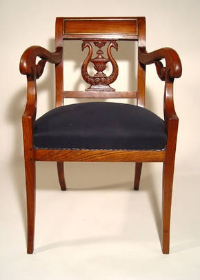 Baltic Biedermeier armchair