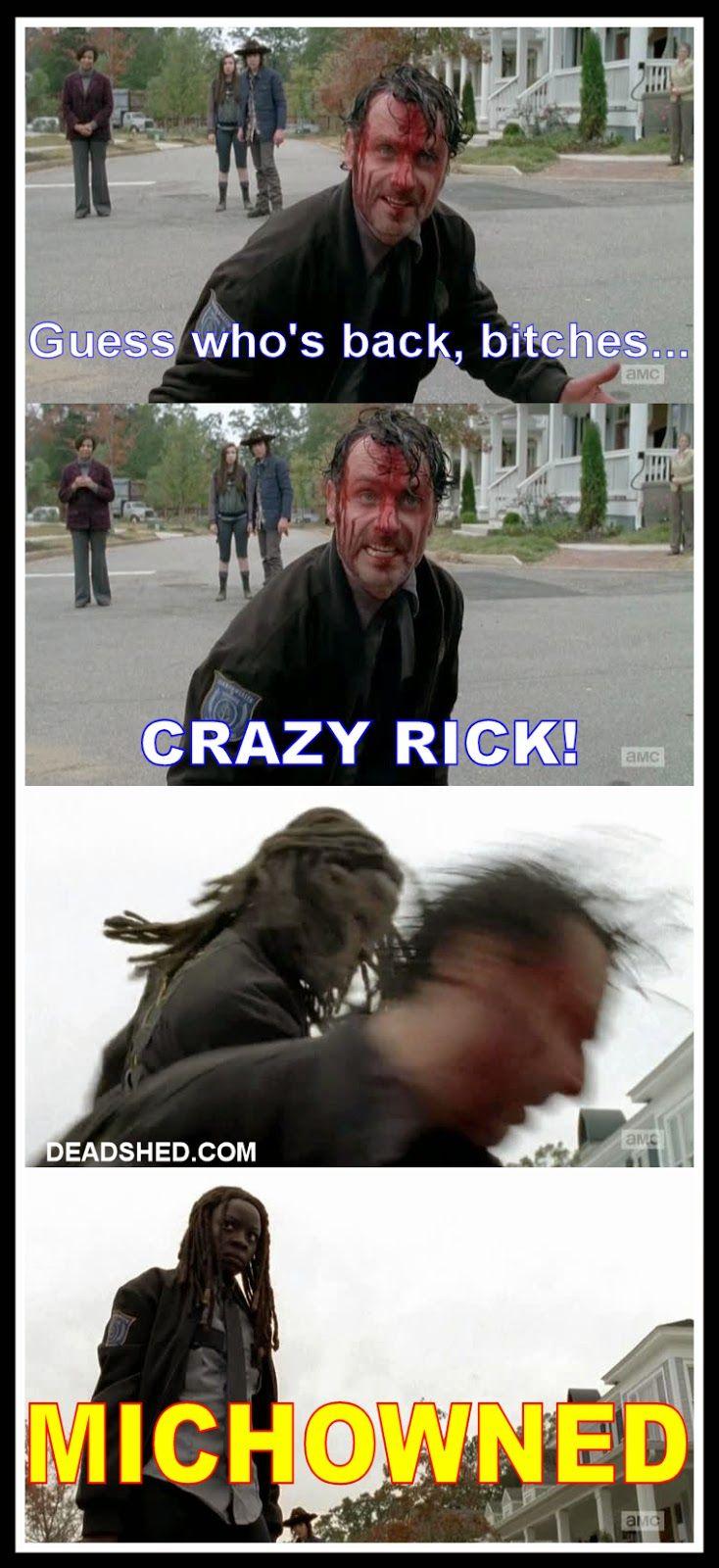 The_Walking_Dead_Season_5_Guess_Back_Crazy_Rick_Grimes_Michowned_Michonne_5x15_DeadShed.jpg 734×1600 pixels