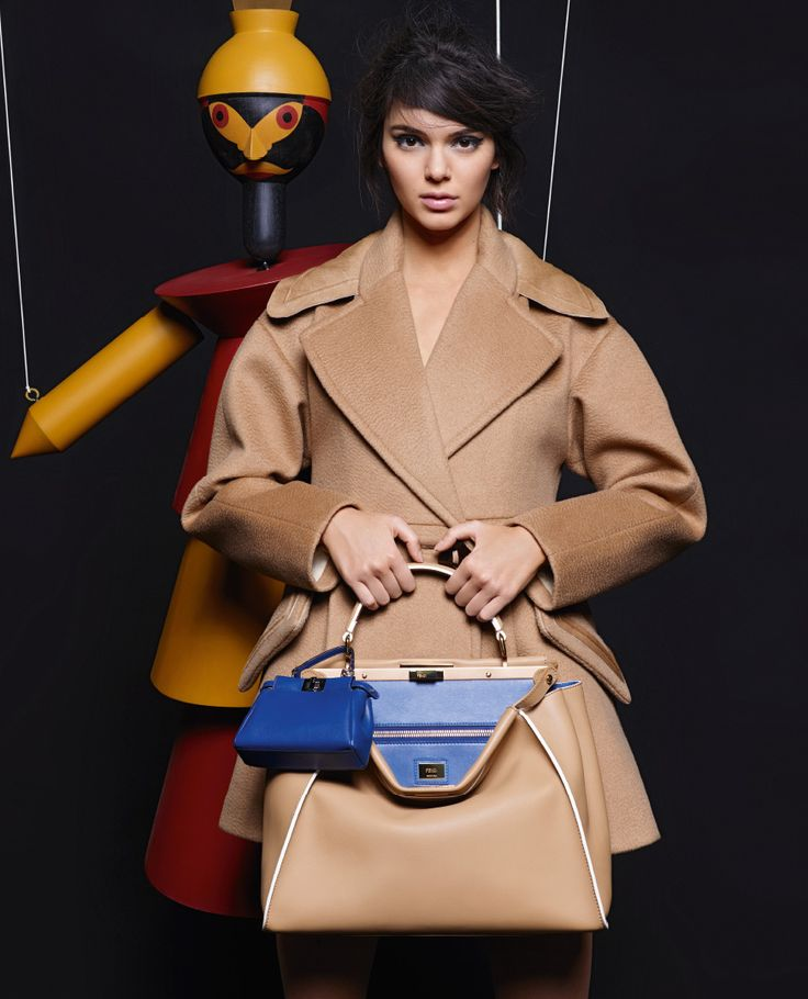 Kendall Jenner shot by Karl Lagerfeld for the Fendi FW15 campaign inspired by the work of Sophie Taeuber-Arp