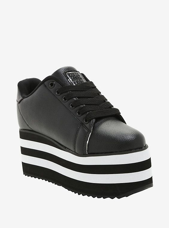 3dd8cc82b4c Cute To The Core By YRU LaLa Black   White Sole Sneakers Hot Topic  Exclusive
