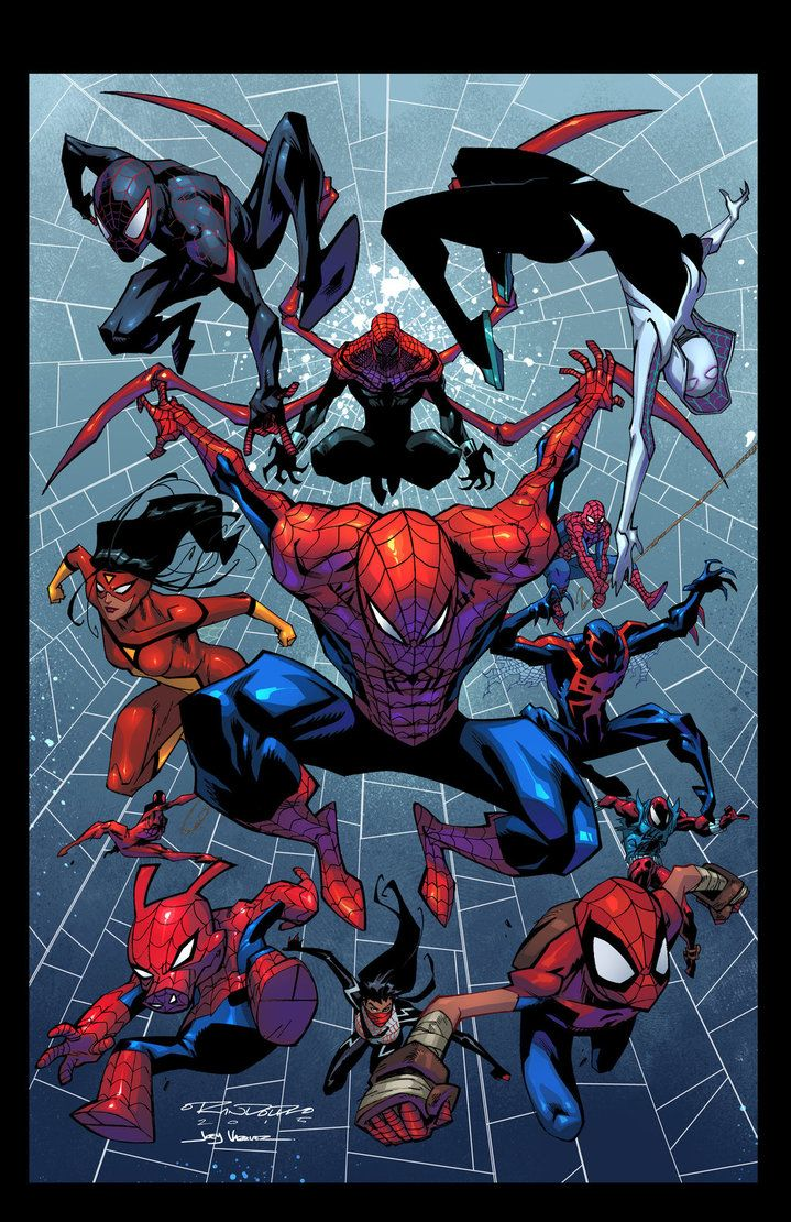 #Spiderman #Fan #Art. (Khary Randolph Spider-Verse colors). by Joey Vazquez. ÅWESOMENESS!!!