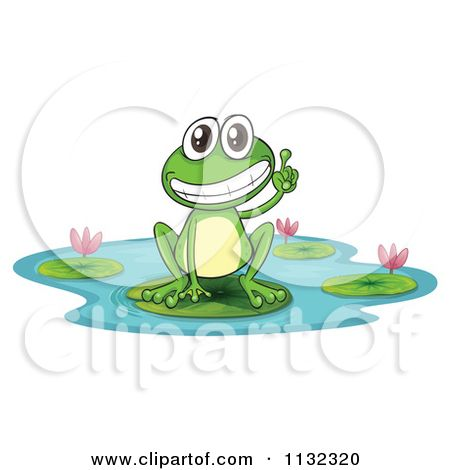 Cute Frog Jumping Lily Pads | Cute Cartoon Frogs On Lily ...