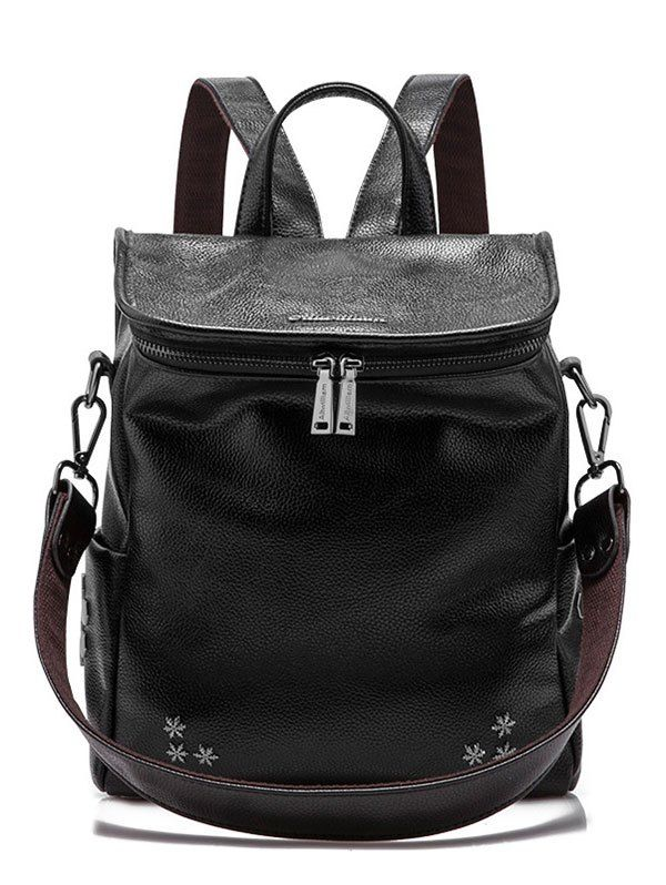 Snowflake Pattern Zippers Metal Backpack #men, #hats, #watches, #belts, #fashion