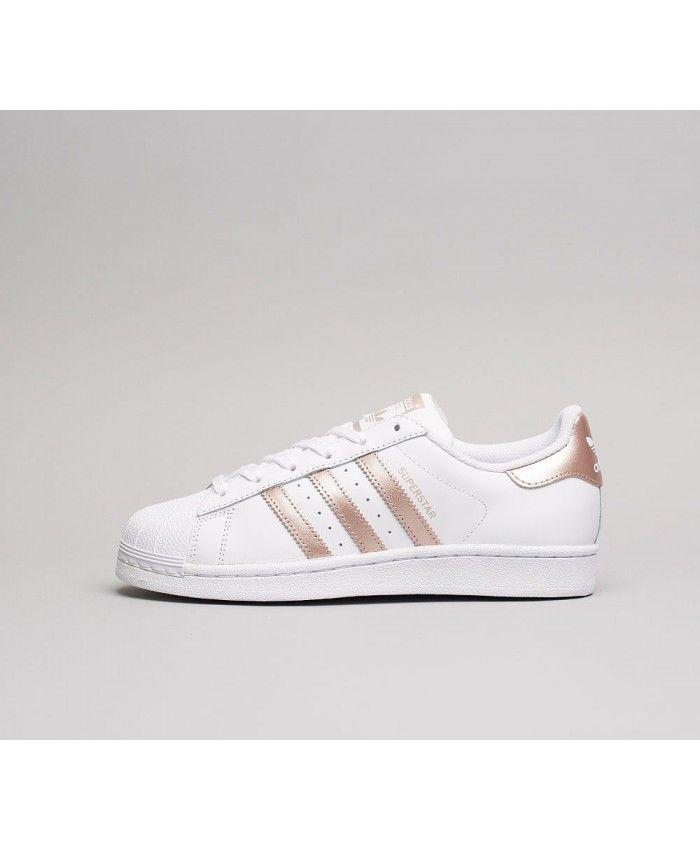 0ccee64af Cheap Adidas Originals Womens Superstar Foundation Trainer White Bronze  White Sale UK