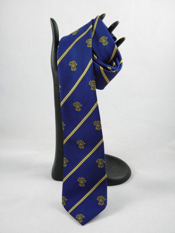 Vintage 1960s Masonic Necktie  Royal Blue by BlackBirdVintiques, $15.00
