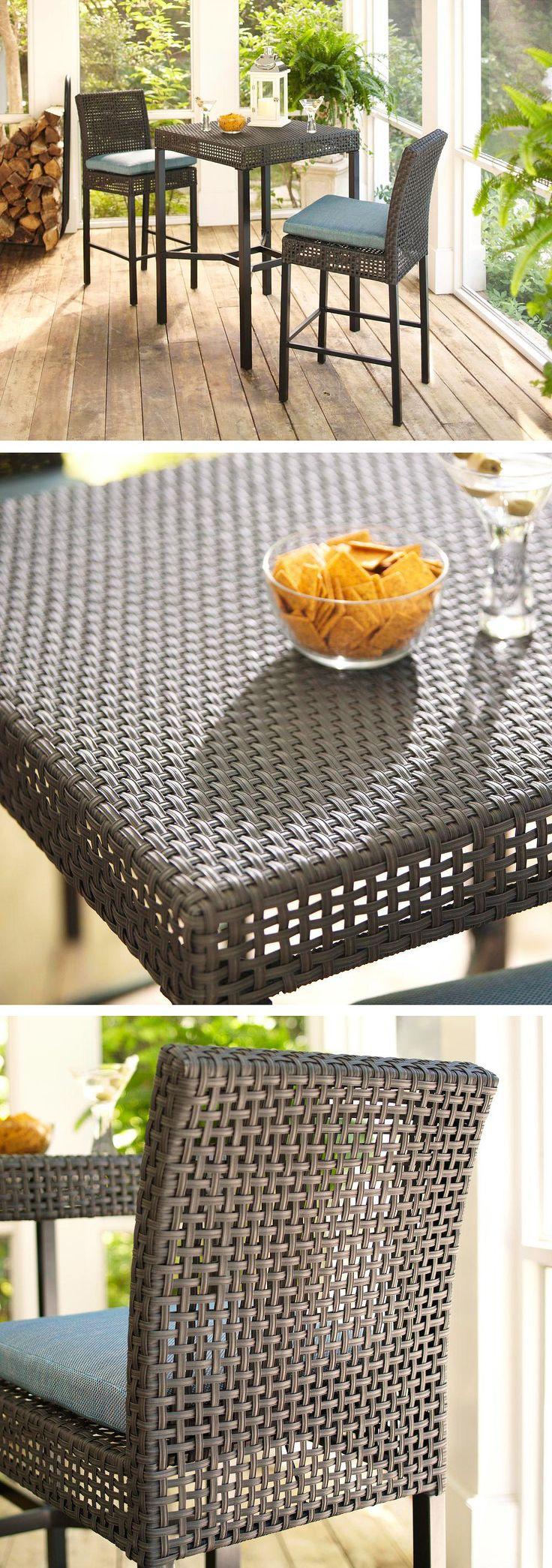 Hampton Bay Patio Furniture Warranty Canada: Hampton Bay Fenton 3-Piece Patio High Bar/Bistro Set With
