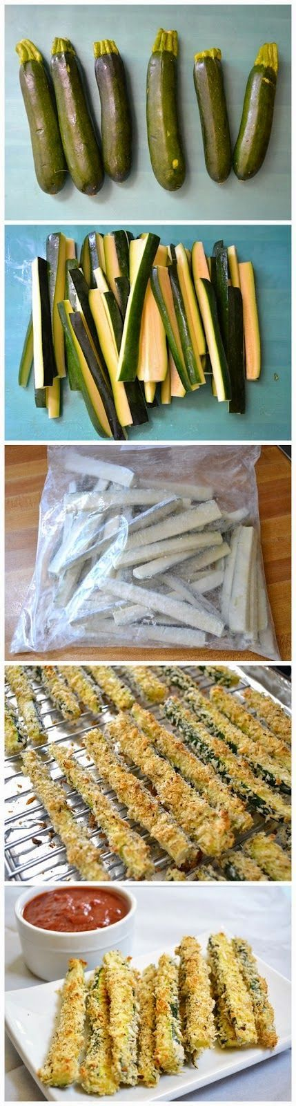 papas fritas de calabacín al horno - baked zucchini fries | https://lomejordelaweb.es/