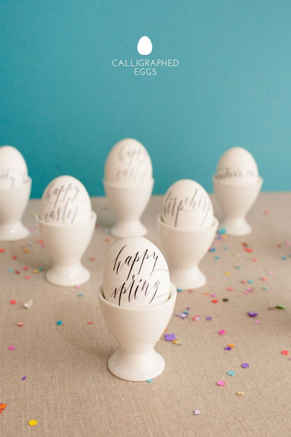 Calligraphy Eggs DIY | Oh Happy Day!