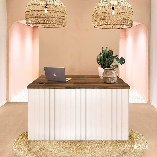 Beauty Salon Reception Desks For Sale Comfortel Em 2020
