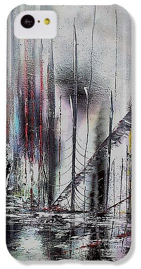 Gloomy Sunday IPhone 5c Case  Printed with Fine Art spray painting image Gloomy Sunday by Nandor Molnar (When you visit the Shop, change the orientation, background color and image size as you wish)