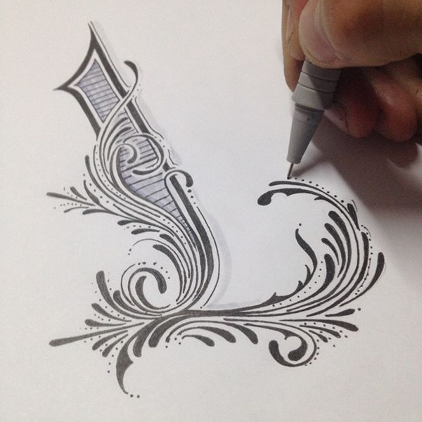 Handlettering and calligraphy by Luis Garcia, via Behance