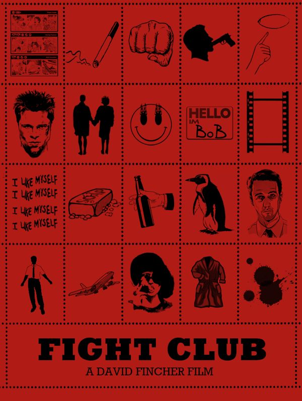 Fight Club (1999) ~ Alternative Movie Poster by Peter Stults ~ Film Plots Series #amusementphile