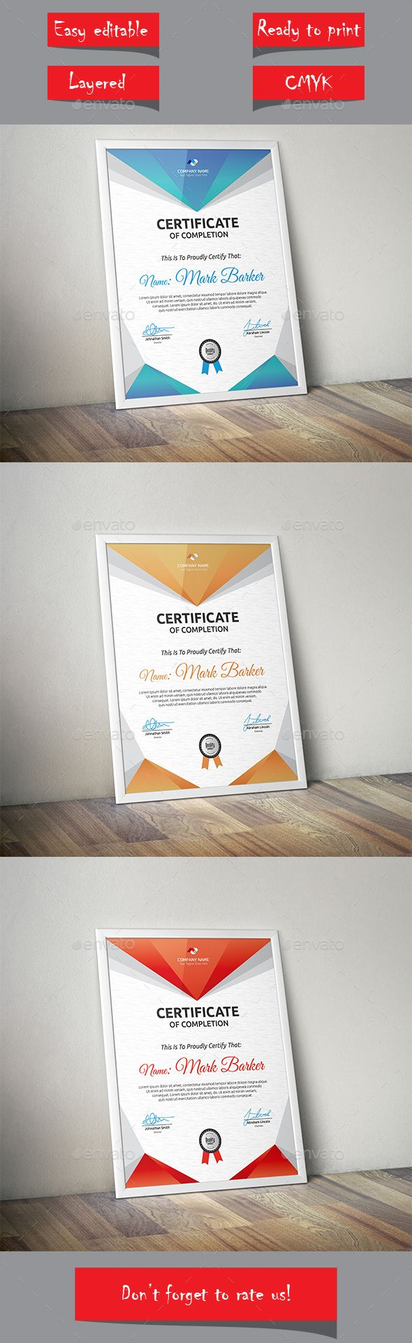 Certificate Template Vector EPS. Download here: http://graphicriver.net/item/certificate/14247682?ref=ksioks
