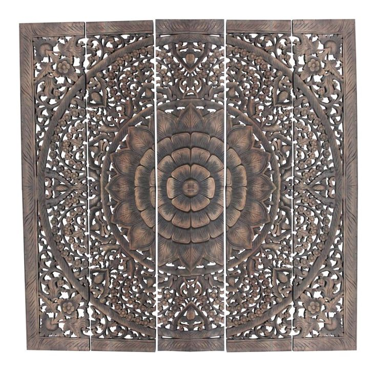 Handgeschnitzt: Wandbild Relief Lotusblume Bild Lotus Blume Thailand Kunst   eBay