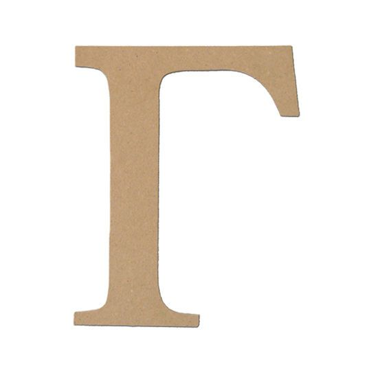 "Art Minds Greek Letter, 5"" in Unfinished -"