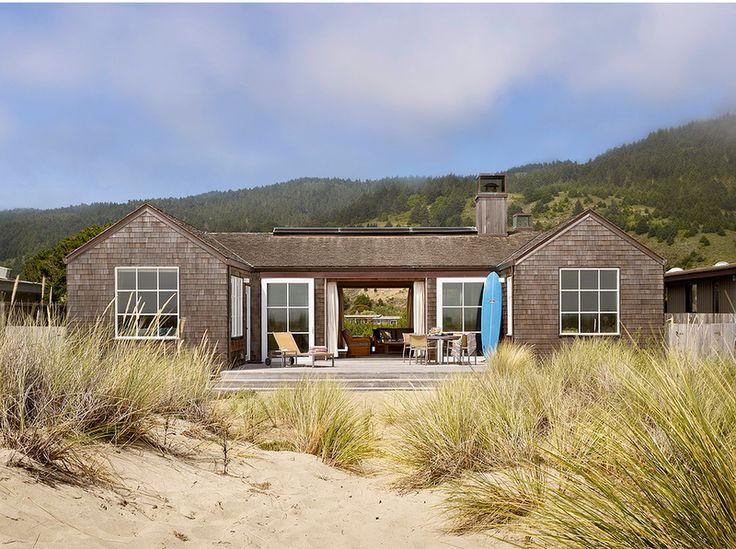 A wood beach house
