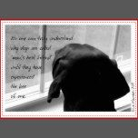 A black and white photograph of an endearing dog gazing out a big, window. A beautiful sentiment on the front shows you understand what's it's like to lose a pet. Appropriate for any age or gender.
