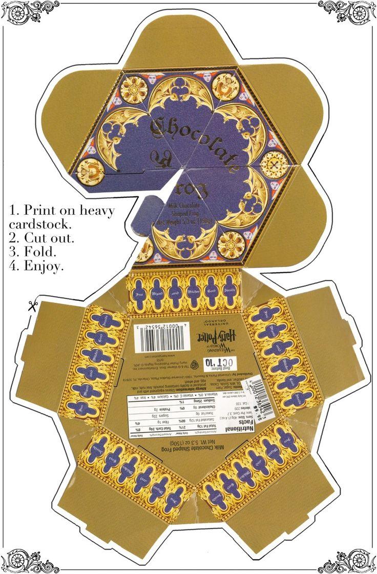 Harry Potter Theme:  Printable Chocolate Frog Box