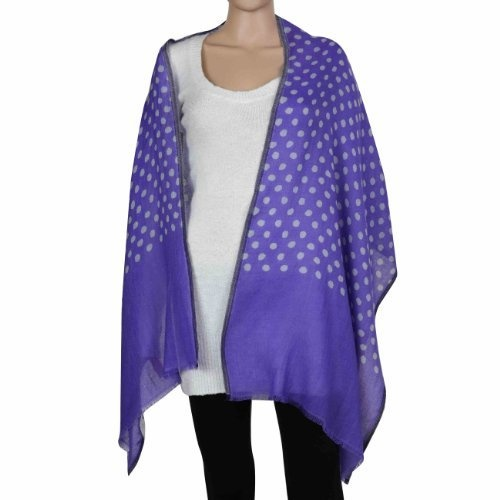 Amazon.com: Purple Blue Scarf Wool Women Accessories Polka Dots Wraps and Shawls: Clothing