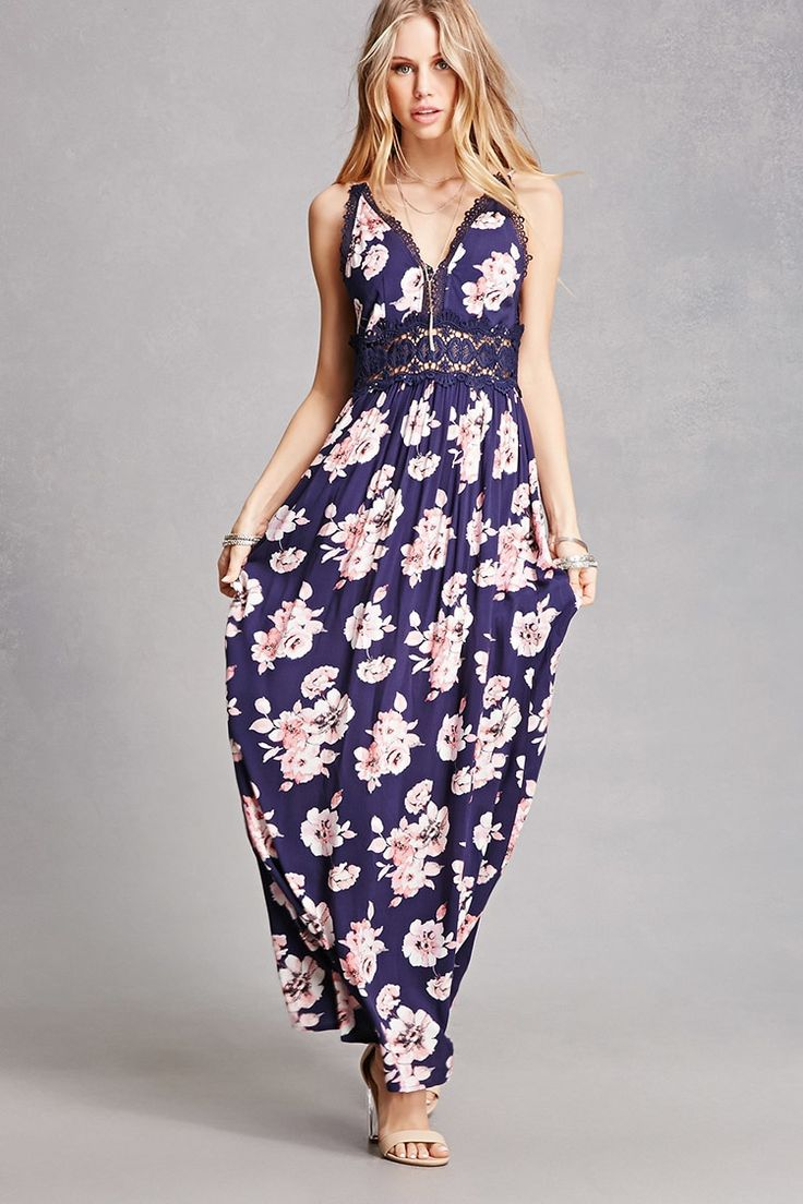 A woven maxi dress by Soieblu™ featuring an allover floral print, a V-  · Back StrapFashion ...