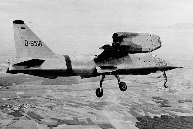 Prototypes.com/Les avions à décollage vertical Allemands/V. Le EWR VJ-101  C