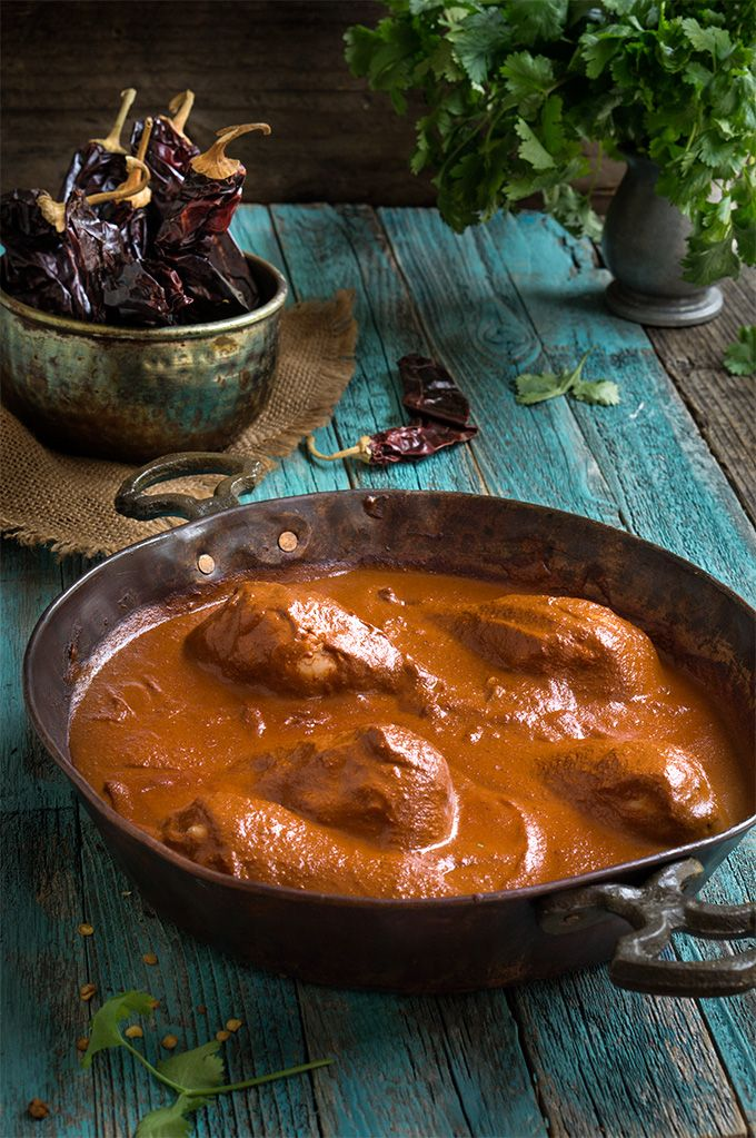 Chocolate hazelnut chicken mole #healthy #dinner #recipe #chocolate #chilli #chicken