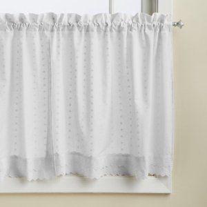 Elegant White Eyelet Curtains