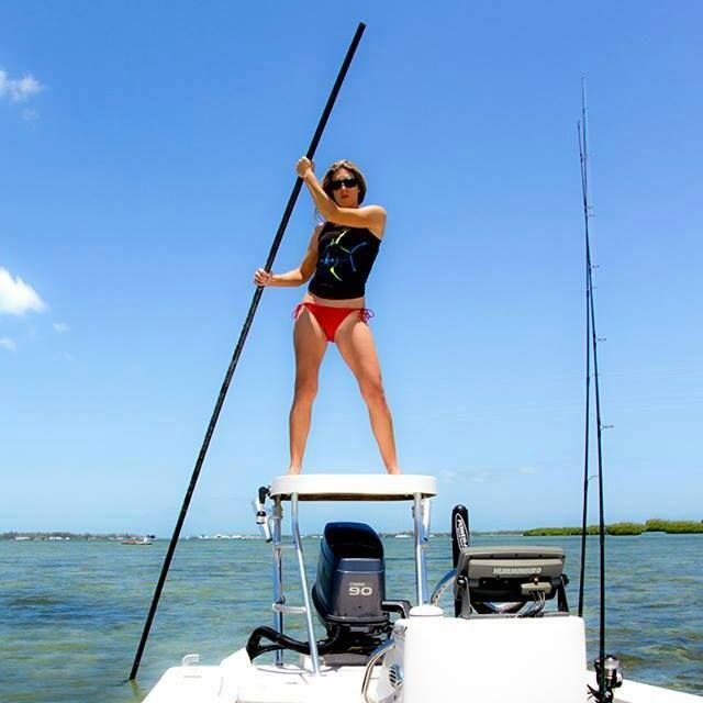 Reel sexy fishin for Girl fishing pole