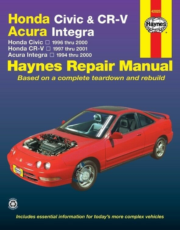 Advertisement Ebay Repair Manual Ex Haynes 42025 Repair Manuals Honda Civic Mitsubishi Eclipse
