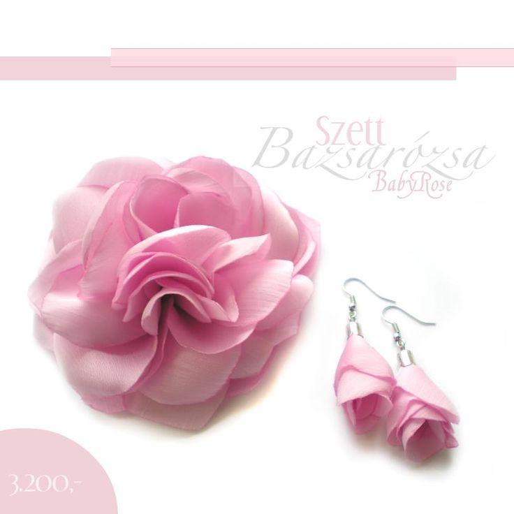 rózsaszín, virág, Bazsarózsa, hajdísz, kitűző, fülbevaló