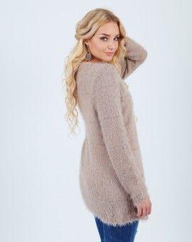 Fluffy bruin vest