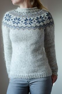 Wonderful yoke pattern. I really enjoyed knitting this sweater and love the result. Winter can come now :)) Mods: waist shaping sleeves: Increases every 10 rows until 48 sts. Hems with 5.00 mm...